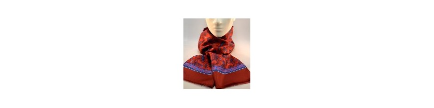 Men's scarves in 100% silk (13.78 inches x 63 inches)