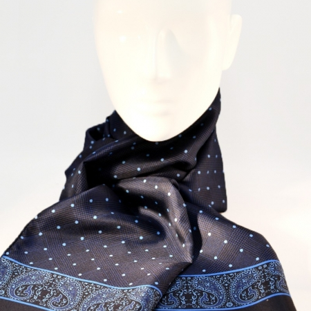 Scarf Prince of Wales and Polka dot